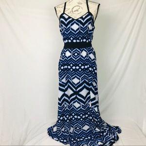 ***Lane Bryant Blue & white dress